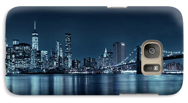 Galaxy Case featuring the photograph Gotham City Skyline by Sebastien Coursol