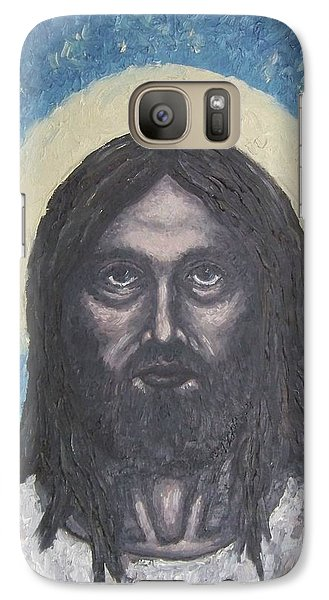 Galaxy Case featuring the painting Gothic Jesus by Michael  TMAD Finney