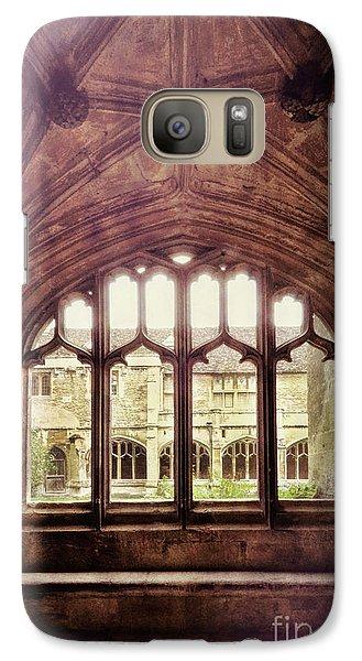 Galaxy Case featuring the photograph Gothic Window by Jill Battaglia