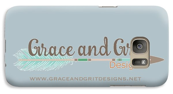 Grace And Grit Logo Galaxy Case by Elizabeth Taylor