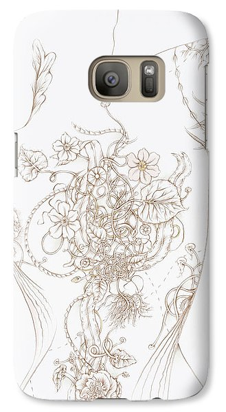 Galaxy Case featuring the drawing Grace by Karen Robey