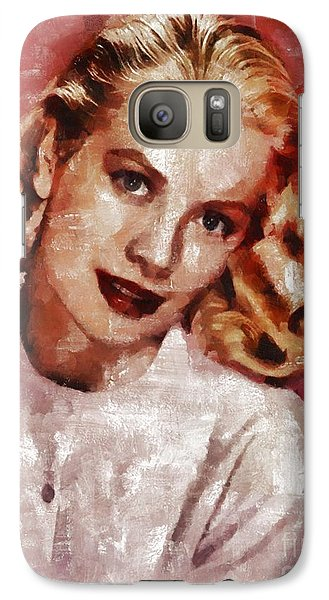 Grace Kelly, Actress And Princess Galaxy S7 Case by Mary Bassett