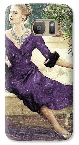 Grace Kelly Draw Galaxy S7 Case