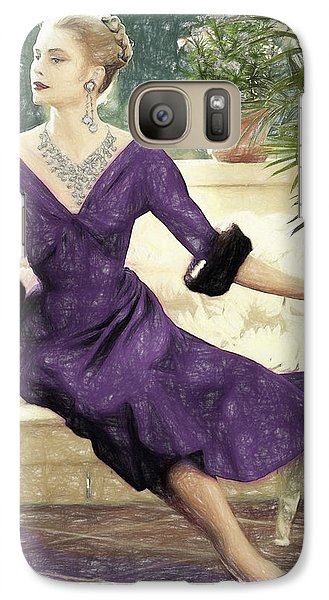Grace Kelly Draw Galaxy Case by Quim Abella