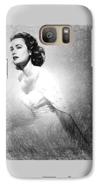 Grace Kelly Sketch Galaxy Case by Quim Abella