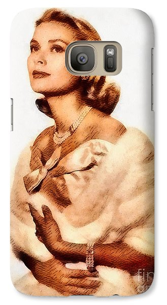 Grace Kelly, Vintage Actress By John Springfield Galaxy S7 Case by John Springfield