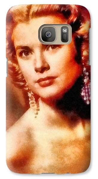 Grace Kelly, Vintage Hollywood Actress Galaxy S7 Case by Frank Falcon