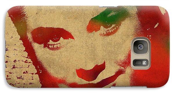 Grace Kelly Watercolor Portrait Galaxy S7 Case