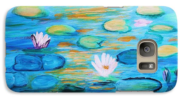 Galaxy Case featuring the painting Graceful Pond From The Water Series by Donna Dixon