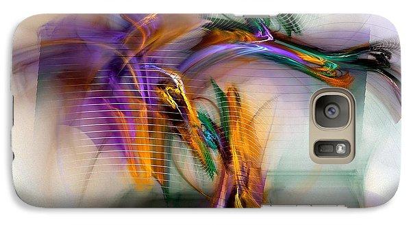 Galaxy Case featuring the digital art Graffiti - Fractal Art by NirvanaBlues