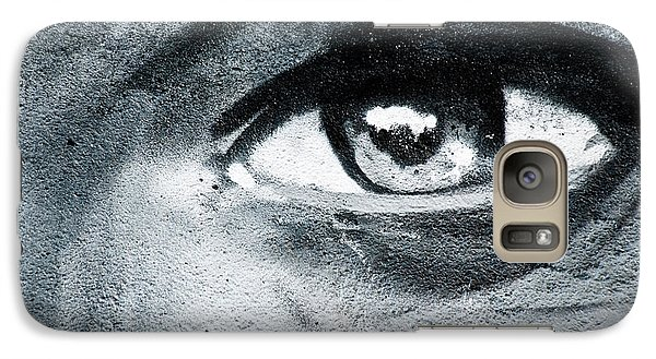 Galaxy Case featuring the painting Graffiti Eye by Yurix Sardinelly