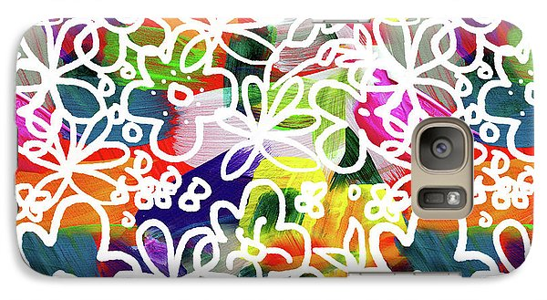 Galaxy Case featuring the mixed media Graffiti Garden 2- Art By Linda Woods by Linda Woods