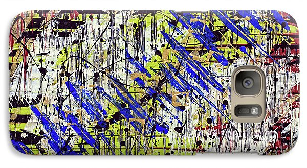 Galaxy Case featuring the painting Graffitti by Cathy Beharriell