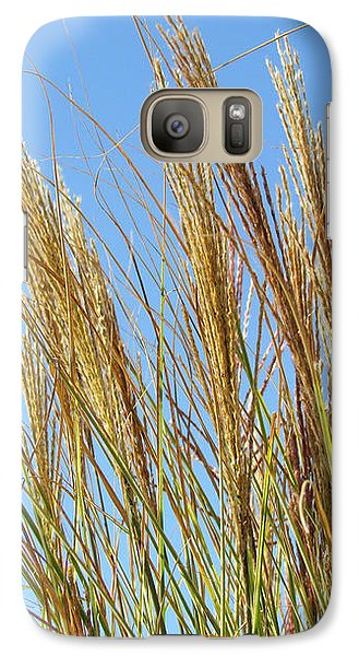 Galaxy Case featuring the photograph Grains Of Grass In The Wind by Bonnie Muir