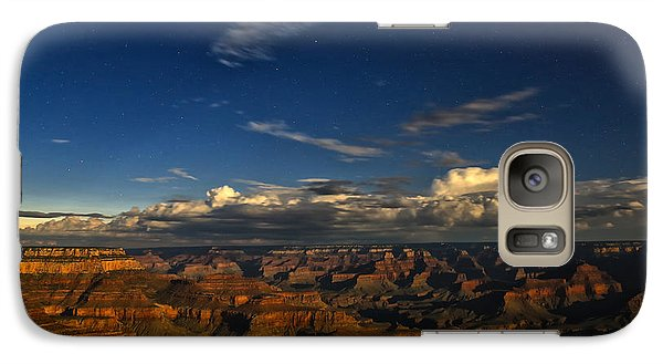 Galaxy Case featuring the photograph Grand Canyon Moonlight by James Menzies