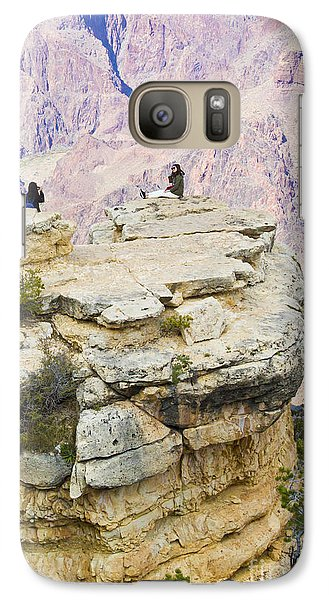 Galaxy Case featuring the photograph Grand Canyon Photo Op by Chris Dutton