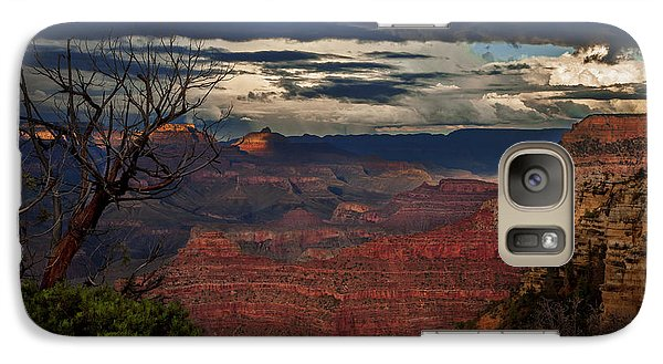 Galaxy Case featuring the photograph Grand Canyon Storm Clouds by John A Rodriguez