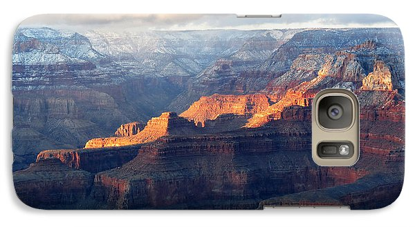 Galaxy Case featuring the photograph Grand Canyon With Snow by Laurel Powell