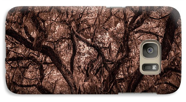 Galaxy Case featuring the photograph Grand Daddy Oak Tree In Infrared by Louis Ferreira