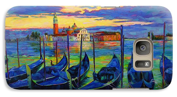 Galaxy Case featuring the painting Grand Finale In Venice by Chris Brandley