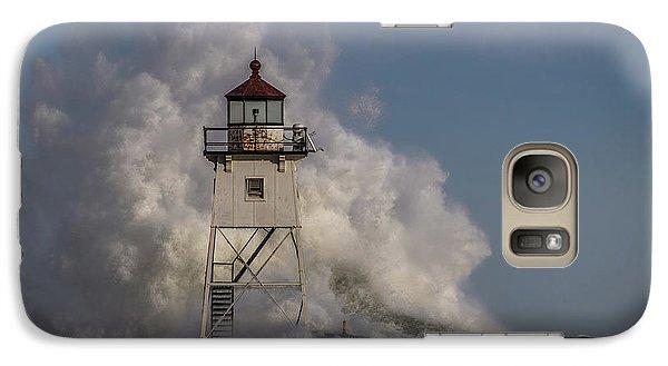 Galaxy Case featuring the photograph Grand Marais Light House by Paul Freidlund