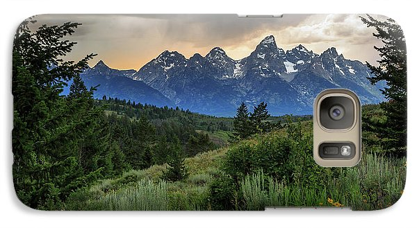 Galaxy Case featuring the photograph Grand Stormy Sunset by David Chandler