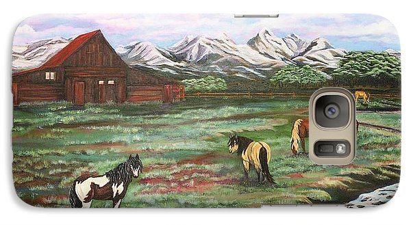 Galaxy Case featuring the painting Grand Teton Mountains by Michelle Joseph-Long