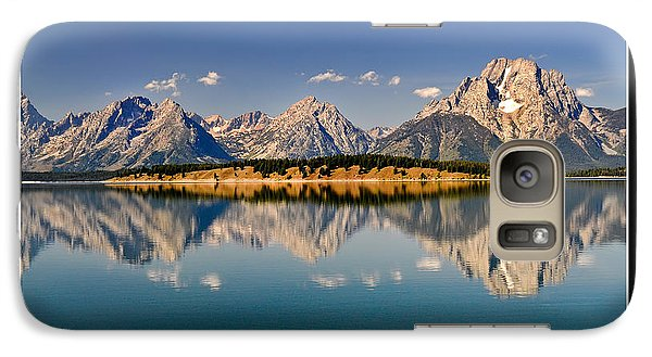 Galaxy Case featuring the photograph Grand Tetons - Believe by Geraldine Alexander