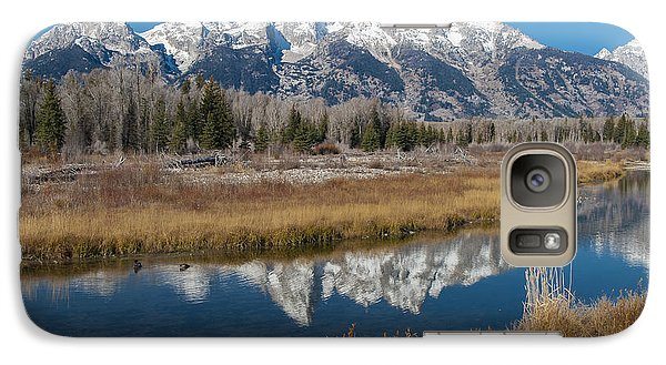 Galaxy Case featuring the photograph Grand Tetons by Gary Lengyel