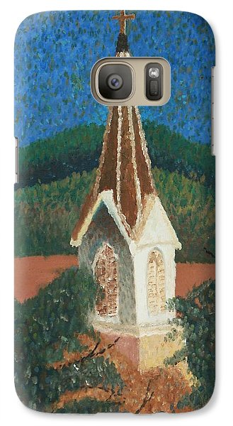 Galaxy Case featuring the painting Grandmas Church by Jacqueline Athmann