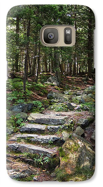 Galaxy Case featuring the photograph Granite Steps, Camden Hills State Park, Camden, Maine -43933 by John Bald