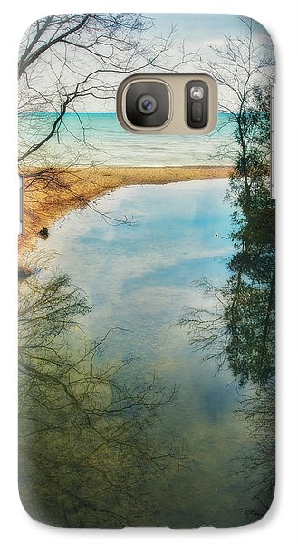 Galaxy Case featuring the photograph Grant Park - Lake Michigan Shoreline by Jennifer Rondinelli Reilly - Fine Art Photography