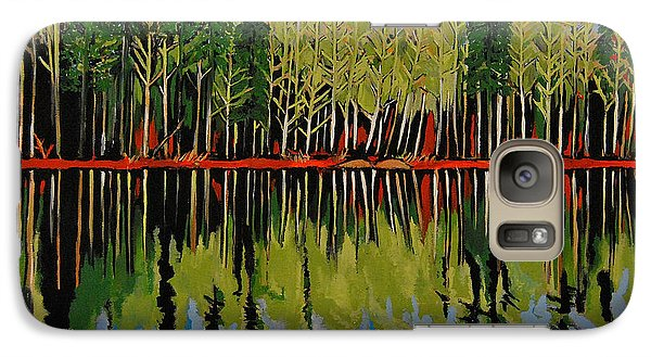 Galaxy Case featuring the painting Grant's Lake Reflections by Kathleen Sartoris