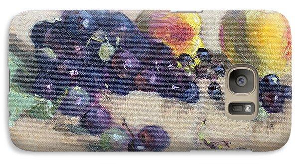 Peach Galaxy S7 Case - Grape And Peach by Ylli Haruni
