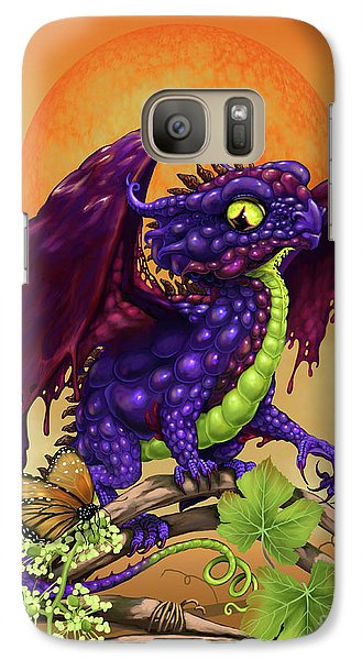 Galaxy Case featuring the digital art Grape Jelly Dragon by Stanley Morrison