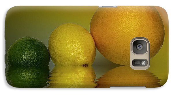 Galaxy Case featuring the photograph Grapefruit Lemon And Lime Citrus Fruit by David French