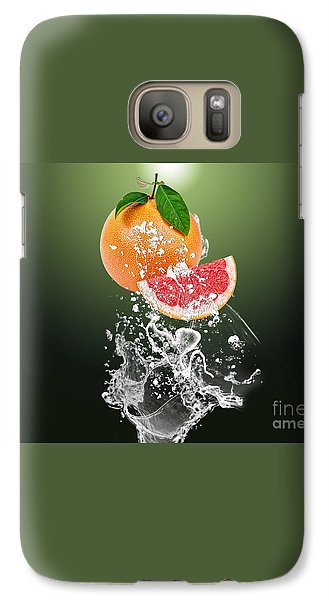 Grapefruit Splash Galaxy Case by Marvin Blaine