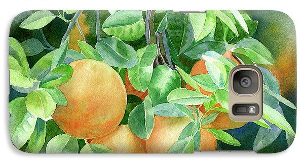 Grapefruit With Background Galaxy S7 Case by Sharon Freeman