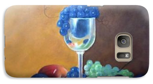 Galaxy Case featuring the painting Grapes And Plums by Susan Dehlinger