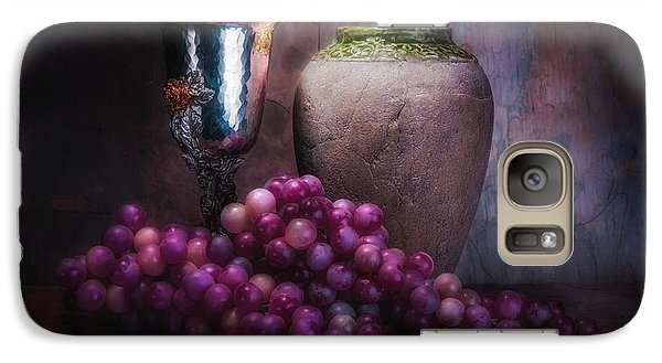 Grapes And Silver Goblet Galaxy S7 Case by Tom Mc Nemar