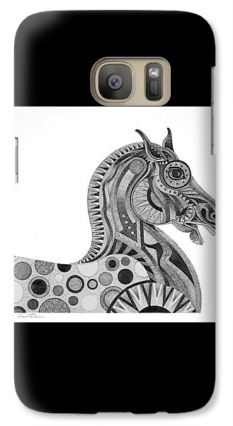 Galaxy Case featuring the painting Graphite Horse by Bob Coonts