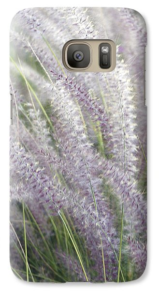 Galaxy Case featuring the photograph Grass Is More - Nature In Purple And Green by Ben and Raisa Gertsberg
