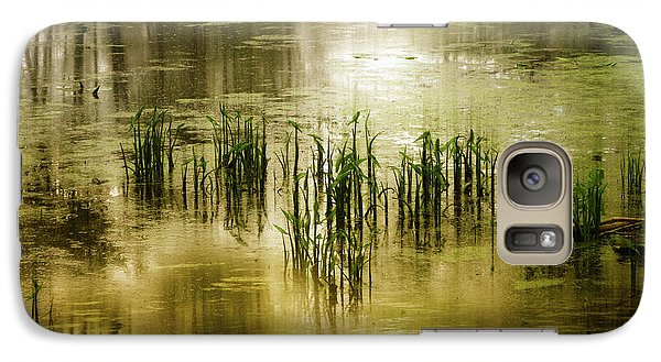 Galaxy Case featuring the photograph Grassland Abstract by Jessica Jenney