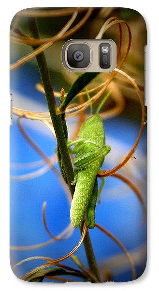 Grassy Hopper Galaxy S7 Case by Chris Brannen