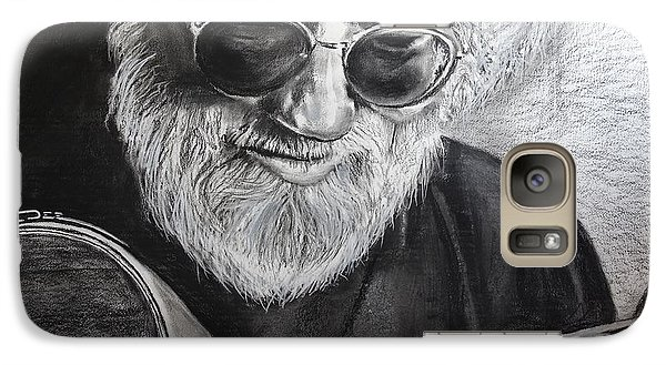 Galaxy Case featuring the drawing  Grateful Dude by Eric Dee
