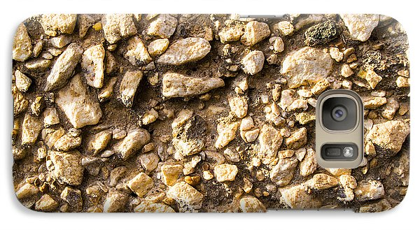 Galaxy Case featuring the photograph Gravel Stones On A Wall by John Williams