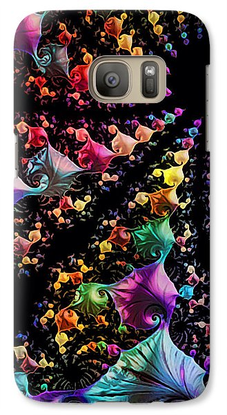 Galaxy Case featuring the digital art Gravitational Pull by Kathy Kelly