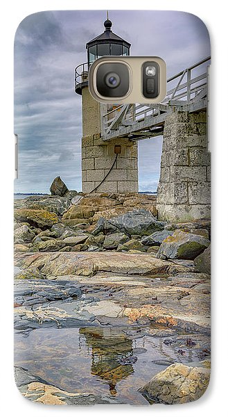 Galaxy Case featuring the photograph Gray Day At Marshall Point by Rick Berk