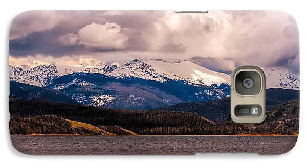Galaxy Case featuring the photograph Gray Skies Over Lake Granby by Tom Potter