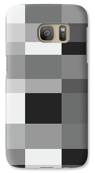 Galaxy Case featuring the digital art Grayscale Check by Bruce Stanfield